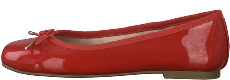 Tamaris 22101 ženske balerinke, 36, rdeče