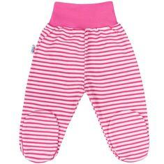 NEW BABY Kojenecké polodupačky New Baby Classic II s růžovými pruhy - Kojenecké polodupačky New Baby Classic II s růžovými pruhy