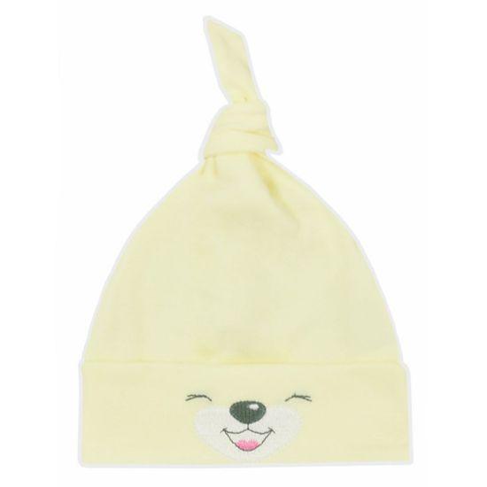 BOBAS FASHION Bavlněná kojenecká čepička Bobas Fashion Lucky žlutá - Bavlněná kojenecká čepička Bobas Fashion Lucky žlutá