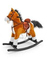 MILLY MALLY Houpací koník s melodií Milly Mally Mustang světle hnědý