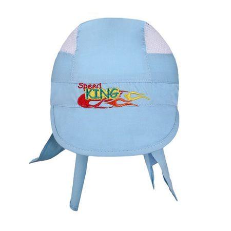 NEW BABY Letní dětská čepička-šátek New Baby Speed King modrá