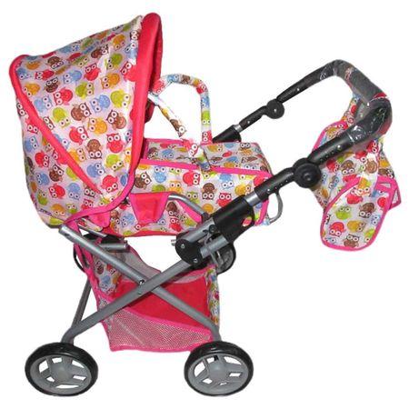 Baby Mix Gyermek babakocsi babáknak 2az1-ben Baby Mix baglyokkal