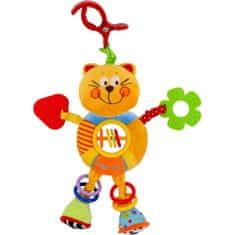 Baby Mix Dětská plyšová hračka s chrastítkem Baby Mix kočička