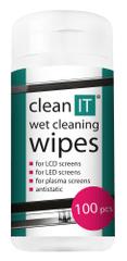 Clean IT Čistící ubrousky mokré na LCD/TFT 100 ks (náhrada za CL-4)