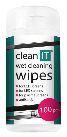 CLEAN IT Čistiace obrúsky mokré na LCD/TFT 100 ks (náhrada za CL-4)