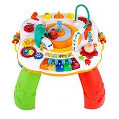NEW BABY Mluvící a hrající interaktivní stoleček New Baby s jezdícím vláčkem CZ/SK