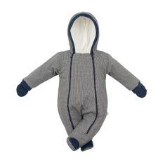 BABY SERVICE Zimní kojenecká kombinéza s kapucí a rukavicemi Baby Service Retro - Zimní kojenecká kombinéza s kapucí a rukavicemi Baby Service Retro