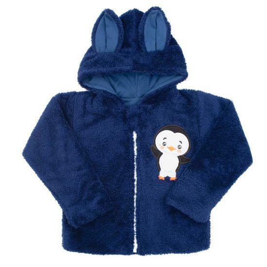 NEW BABY Zimní dětská mikina New Baby Penguin tmavě modrá - Zimní dětská mikina New Baby Penguin tmavě modrá