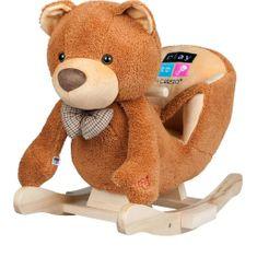 PLAYTO Houpací hračka s melodií PlayTo medvídek hnědá