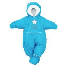 NEW BABY Zimní kombinéza 2v1 New Baby modrá - Zimní kombinéza 2v1 New Baby modrá