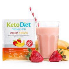 KetoDiet Proteinový nápoj příchuť jahoda a banán 7 porcí