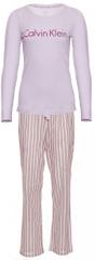 Calvin Klein dámske pyžamo QS6350E L/S Pant Set