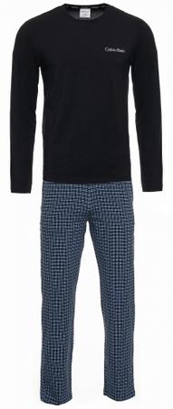 Calvin Klein moška pižama NM1600E L/S Pant Set, S, temno modra