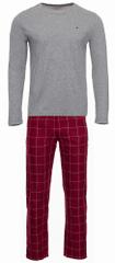 Tommy Hilfiger moška pižama UM0UM01601 CN LS Pant Flannel Set