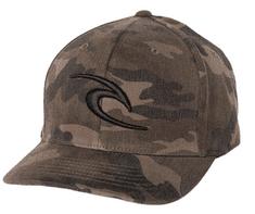 Rip Curl męska czapka khaki flexfit Fleck Curve Peak Cap