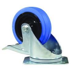 Akcesoria kółka obrotowe, Zestaw obrotowy Blue Wheel, 100 mm z hamulcem