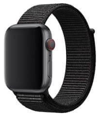 ACM Tkaný nylonový provlíkací sportovní řemínek pro Apple Watch 42mm/44mm BLACK