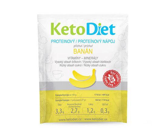 KetoDiet Proteínový nápoj príchuť banán 7 x 27 g
