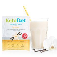 KetoDiet Proteinový nápoj příchuť vanilka 7 porcí