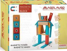MAGPLAYER Magplayer dřevěná magnetická stavebnice 24 ks