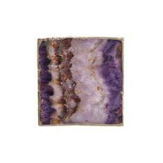 Butlers Podtácek z drahých kamenů čtvercový 10 cm - fialová/zlatá