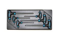 AHProfi Sada T klíčů TORX ve výplni do dílenského vozíku, 6 dílů - VV006TT01 | AHProfi