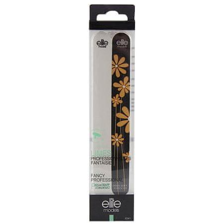 Elite Models Körömreszelők 2db , 2 db puha, fehér / fekete virággal, 18cm, műanyag borítóval