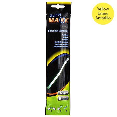 Glow Mark Világító csík, 20x1cm, sárga