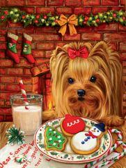 SunsOut Puzzle 500 dílků Brooke Faulder - Sharing Cookies with Santa