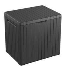 KETER vrtna škatla / zaboj za shranjevanje CITY box, 113, siva/grafitna