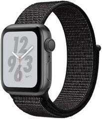Apple Watch Series 4 Nike+ 40mm vesmírně šedý hliník s černým provlékacím sportovním řemínkem Nike