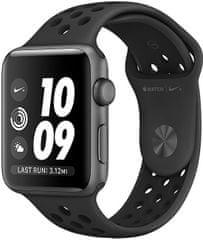 Apple Watch Series 3 Nike+ 38mm vesmírně šedý hliník s antracitovým/černým Nike sportovním řemínkem