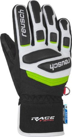Reusch Prime Race R-Tex XT dječje skijaške rukavice, 4,5, crne/bijele