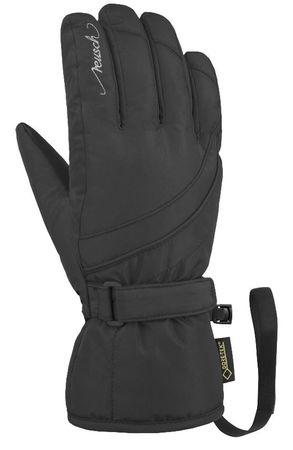Reusch Sophie GTX smučarske rokavice, 6,5, črne/srebrne