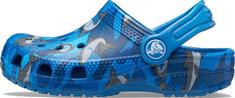 Crocs buty chłopięce Classic Shark Clog PS Prep Blue 206147-4KI