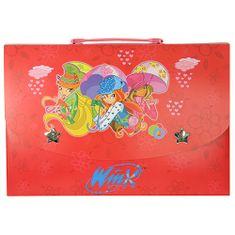 Winx Club Obal na dokumenty L Winx Club, Obal na dokumenty L Bloom&Stella&Flora s dáždnikmi