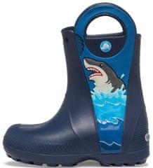 Crocs Buty CrocsFL Shark Ptch Rain Boot B Navy
