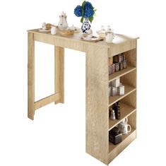 TEMPO KONDELA Barový stôl, dub sonoma, AUSTEN