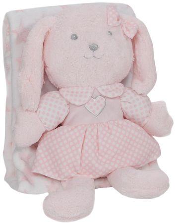 Interbaby odeja z zajčkom, 80×110, roza