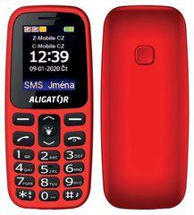 Aligator telefon A220 Senior Czerwony