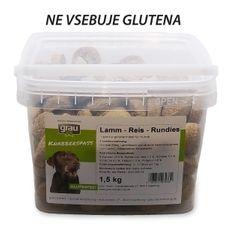 Grau keksi janjetina/riža za osjetljive pse, okrugli, 1,5 kg