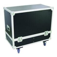 Roadinger Transportní kufr , Transportní case pro 2x PAS-215 s kolečky