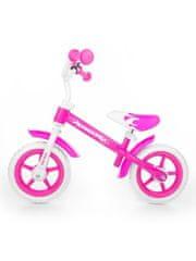 MILLY MALLY Gyerek futóbicikli Milly Mally Dragon fékkel rózsaszín