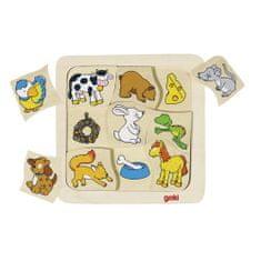 Goki Puzzle Čo jedia?