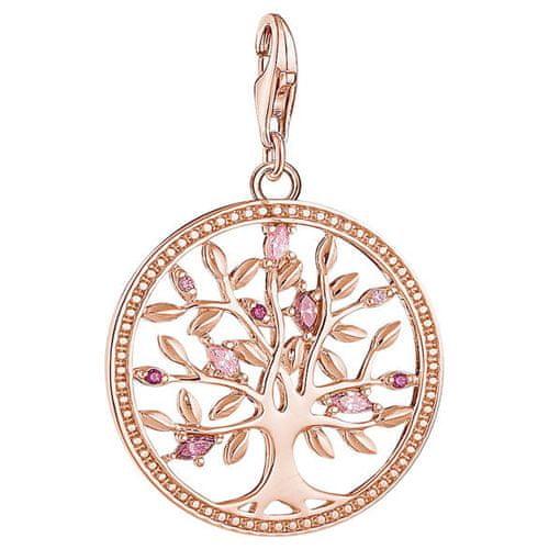 """Thomas Sabo Prívesok """"Strom lásky ružový"""" , 1700-626-9, Charm Club, 925 Sterling silver, 18k rose gold plating, synthetic corundum, zirconia"""