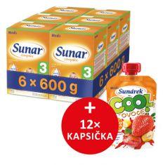 Sunar dojčenské mlieko Complex 3 - 6 x 600g