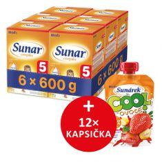 Sunar dojčenské mlieko Complex 5 - 6x600g