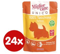 Miglior Cane Unico kapsička krůtí 24 x 100g