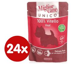 Miglior saszetka Cane Unico, Cielęcina, 24x100g