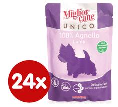 Miglior Cane Unico kapsička jehněčí 24 x 100g